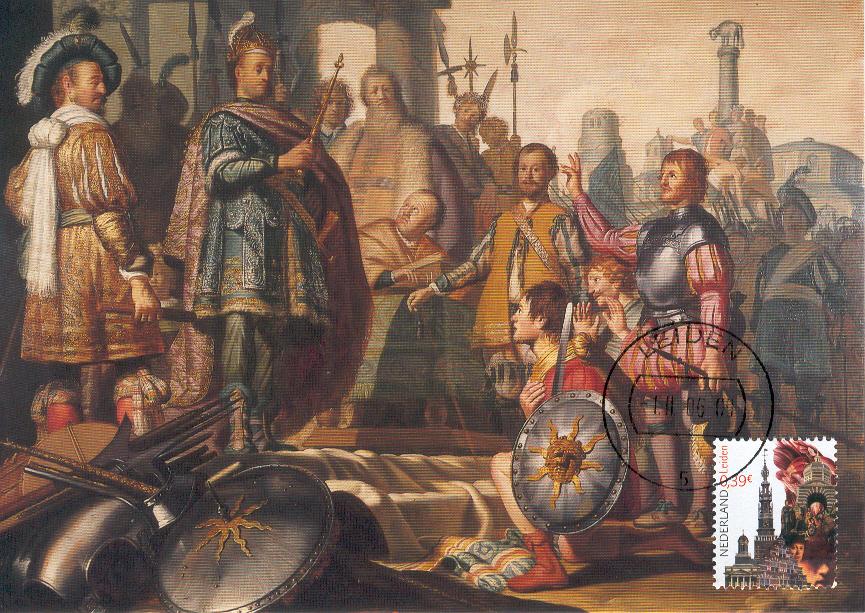 Citaten Uit Klassieke Oudheid : Minimaal afgebeeld schilderij van rembrandt op postzegel